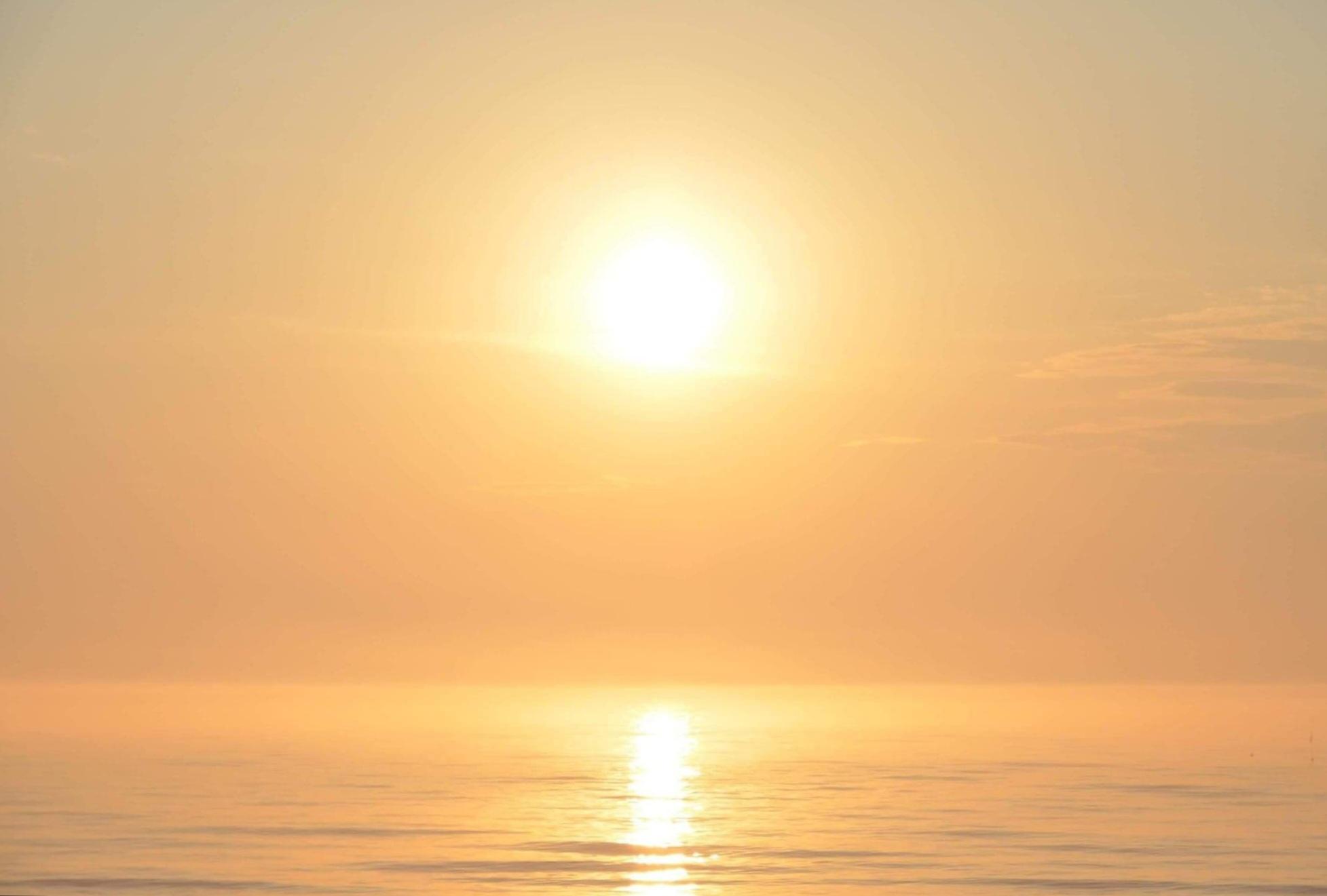 Morze Aniołów wscho słońca S-Grzybowska